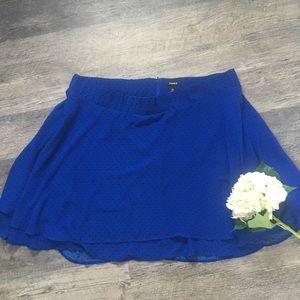 Torrid blue with black polka dot skirt-size 28